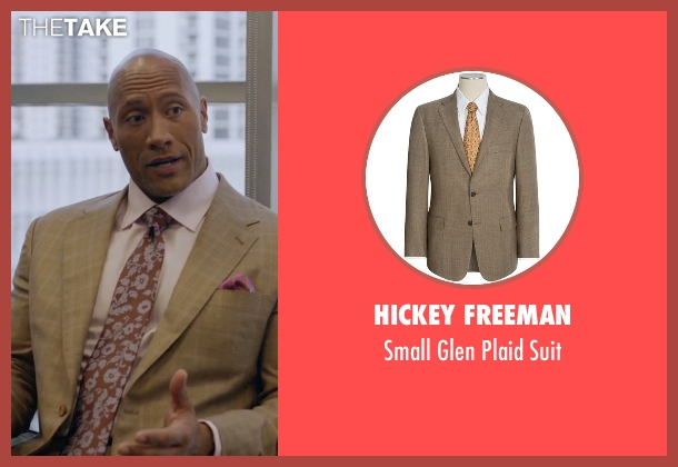 Hickey Freeman brown suit from Ballers seen with Spencer Strasmore (Dwayne Johnson)
