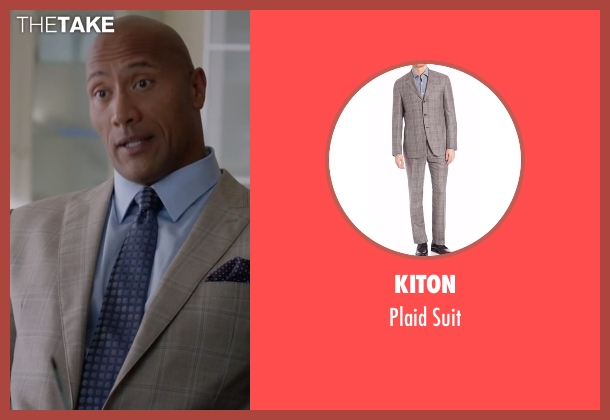 Armani Collezioni  brown suit from Ballers seen with Spencer Strasmore (Dwayne Johnson)