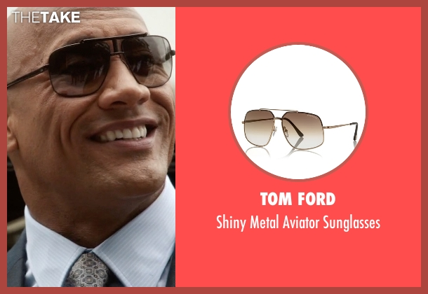 Tom Ford brown sunglasses from Ballers seen with Spencer Strasmore (Dwayne Johnson)