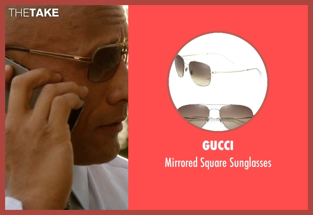 Gucci brown sunglasses from Ballers seen with Spencer Strasmore (Dwayne Johnson)