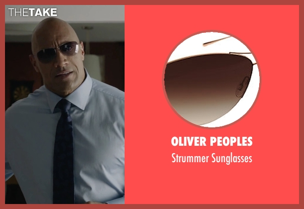 Oliver Peoples brown sunglasses from Ballers seen with Spencer Strasmore (Dwayne Johnson)