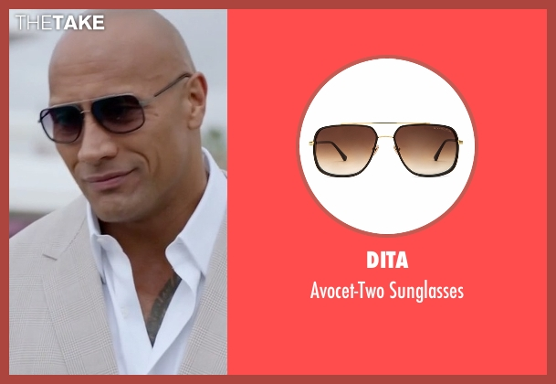 Dita brown sunglasses from Ballers seen with Spencer Strasmore (Dwayne Johnson)