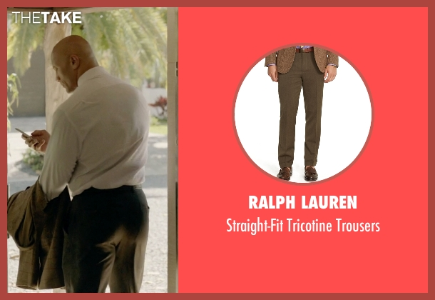 Ralph Lauren brown trousers from Ballers seen with Spencer Strasmore (Dwayne Johnson)