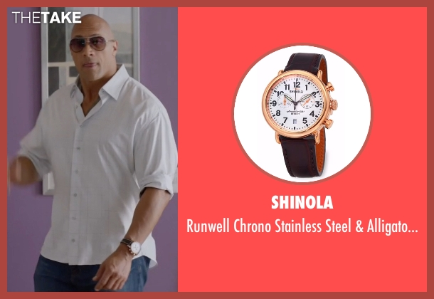 Shinola brown watch from Ballers seen with Spencer Strasmore (Dwayne Johnson)