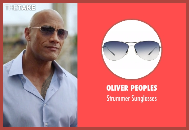 Oliver Peoples gold sunglasses from Ballers seen with Spencer Strasmore (Dwayne Johnson)
