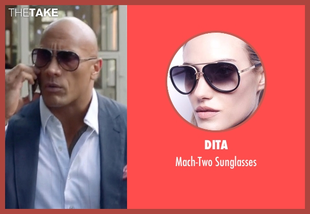 Dita gold sunglasses from Ballers seen with Spencer Strasmore (Dwayne Johnson)