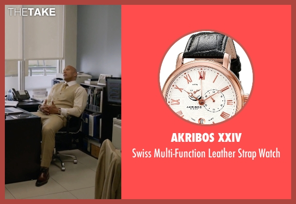 Akribos XXIV gold watch from Ballers seen with Spencer Strasmore (Dwayne Johnson)
