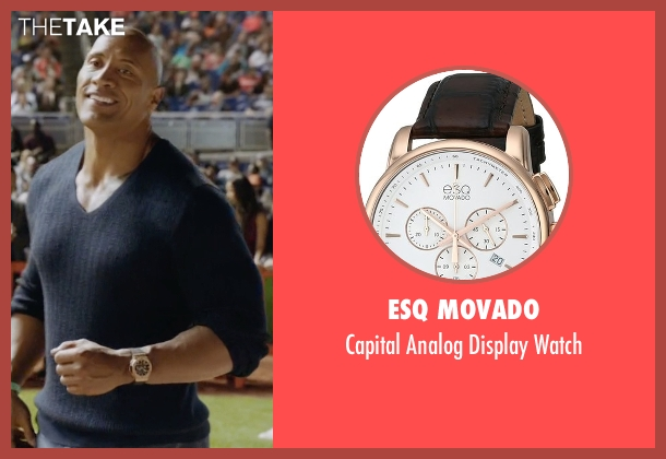 ESQ Movado gold watch from Ballers seen with Spencer Strasmore (Dwayne Johnson)
