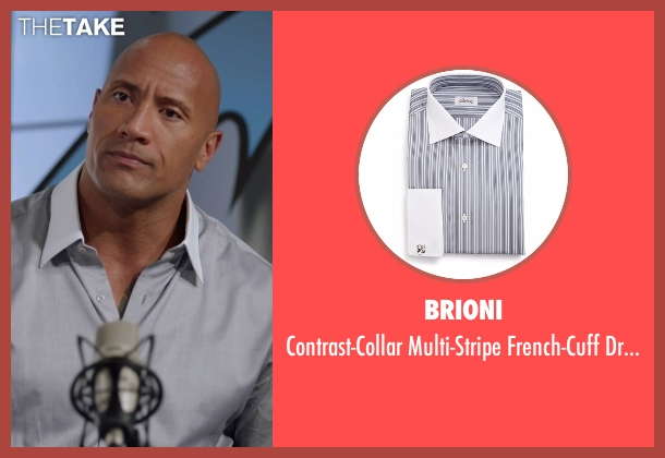 Brioni gray shirt from Ballers seen with Spencer Strasmore (Dwayne Johnson)