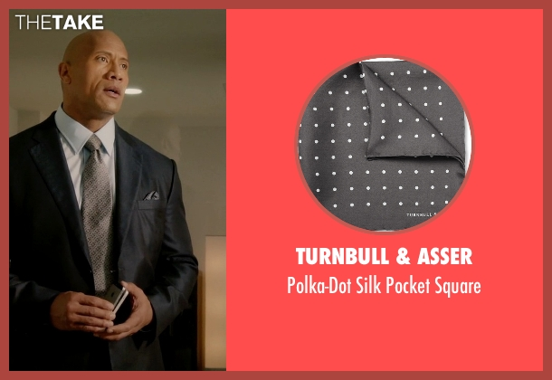 Turnbull & Asser gray square from Ballers seen with Spencer Strasmore (Dwayne Johnson)