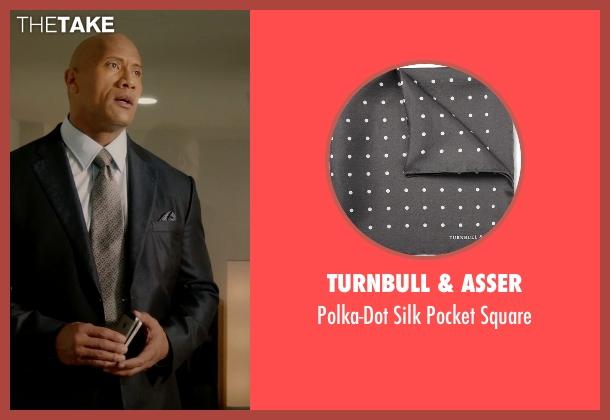 Turnbull & Asser gray square from Ballers seen with Spencer Strasmore (Dwayne Johnson)