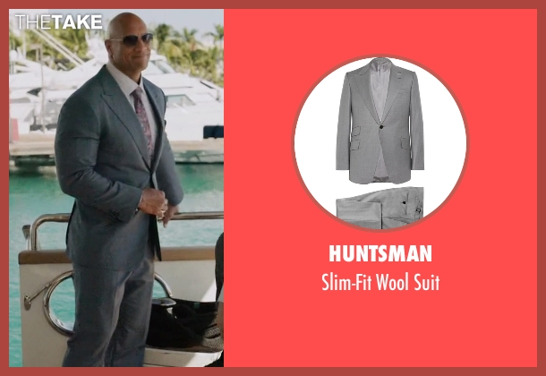Huntsman gray suit from Ballers seen with Spencer Strasmore (Dwayne Johnson)