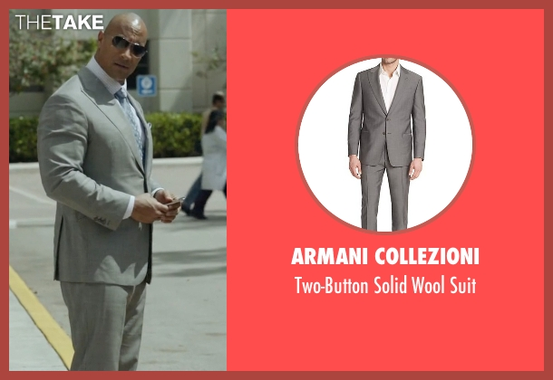 Armani Collezioni gray suit from Ballers seen with Spencer Strasmore (Dwayne Johnson)