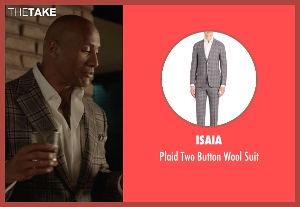 Isaia  gray suit from Ballers seen with Spencer Strasmore (Dwayne Johnson)