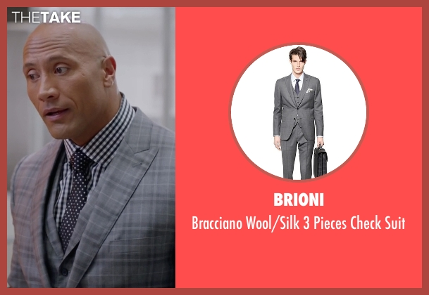 Brioni gray suit from Ballers seen with Spencer Strasmore (Dwayne Johnson)