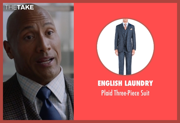 English Laundry gray suit from Ballers seen with Spencer Strasmore (Dwayne Johnson)