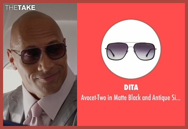 Dita gray sunglasses from Ballers seen with Spencer Strasmore (Dwayne Johnson)