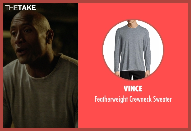 Vince gray sweater from Ballers seen with Spencer Strasmore (Dwayne Johnson)