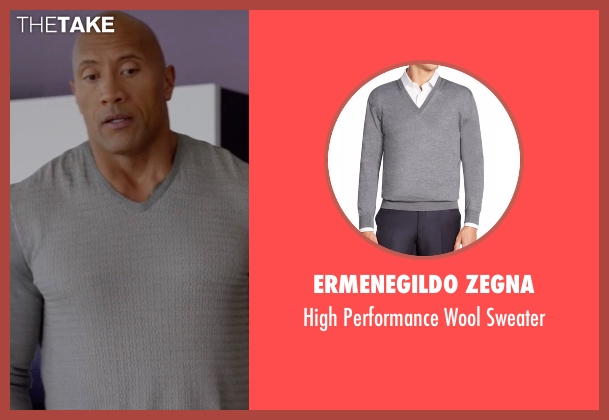 Ermenegildo Zegna gray sweater from Ballers seen with Spencer Strasmore (Dwayne Johnson)
