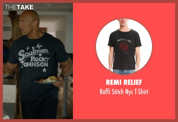 Remi Relief gray t-shirt from Ballers seen with Spencer Strasmore (Dwayne Johnson)