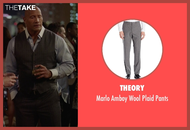 Theory pants from Ballers seen with Spencer Strasmore (Dwayne Johnson)
