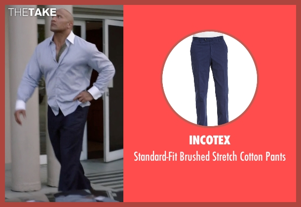 Incotex pants from Ballers seen with Spencer Strasmore (Dwayne Johnson)