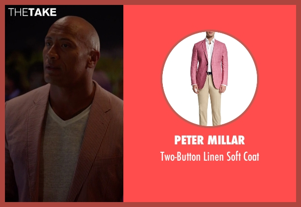 Peter Millar pink coat from Ballers seen with Spencer Strasmore (Dwayne Johnson)
