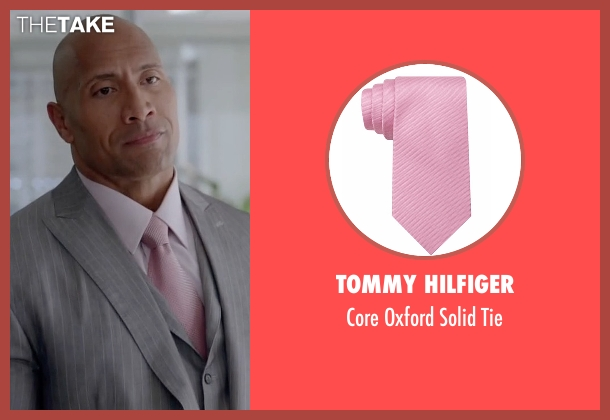 Tommy Hilfiger pink tie from Ballers seen with Spencer Strasmore (Dwayne Johnson)