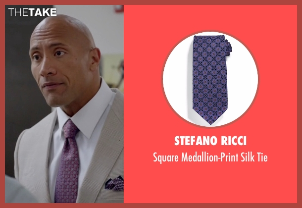 Stefano Ricci purple tie from Ballers seen with Spencer Strasmore (Dwayne Johnson)
