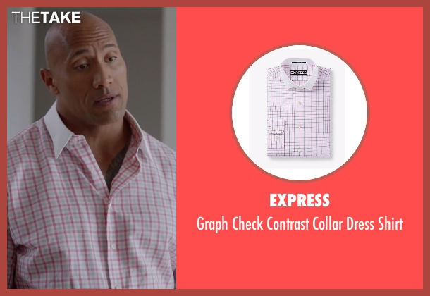 Express red shirt from Ballers seen with Spencer Strasmore (Dwayne Johnson)