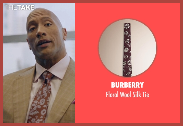 Burberry red tie from Ballers seen with Spencer Strasmore (Dwayne Johnson)