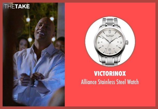 Victorinox silver watch from Ballers seen with Spencer Strasmore (Dwayne Johnson)