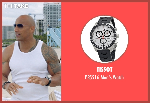 Tissot silver watch from Ballers seen with Spencer Strasmore (Dwayne Johnson)