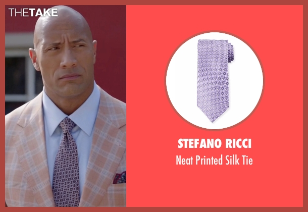 Stefano Ricci tie from Ballers seen with Spencer Strasmore (Dwayne Johnson)