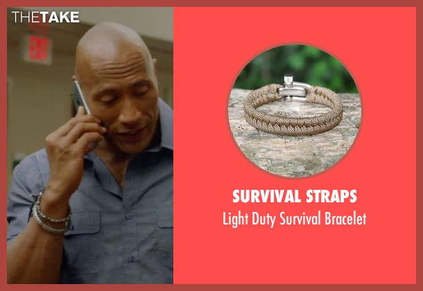 Survival Straps white bracelet from Ballers seen with Spencer Strasmore (Dwayne Johnson)