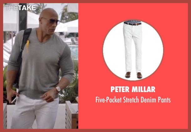 Peter Millar white pants from Ballers seen with Spencer Strasmore (Dwayne Johnson)