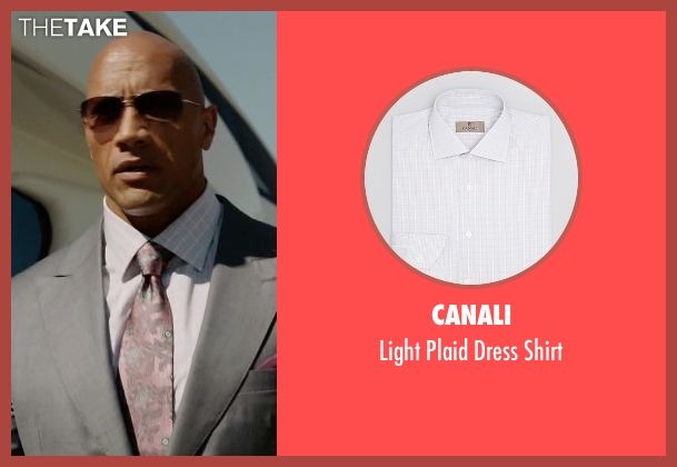 Canali white shirt from Ballers seen with Spencer Strasmore (Dwayne Johnson)