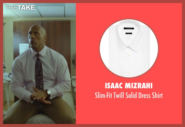 Isaac Mizrahi white shirt from Ballers seen with Spencer Strasmore (Dwayne Johnson)
