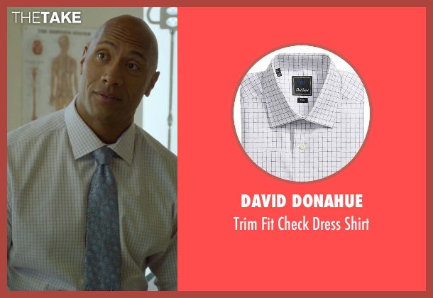 David Donahue white shirt from Ballers seen with Spencer Strasmore (Dwayne Johnson)