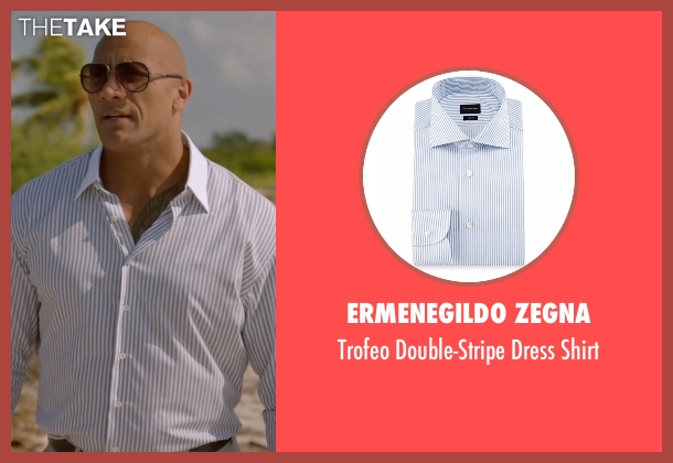 Ermenegildo Zegna white shirt from Ballers seen with Spencer Strasmore (Dwayne Johnson)