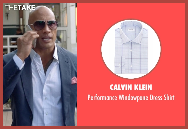 Calvin Klein white shirt from Ballers seen with Spencer Strasmore (Dwayne Johnson)