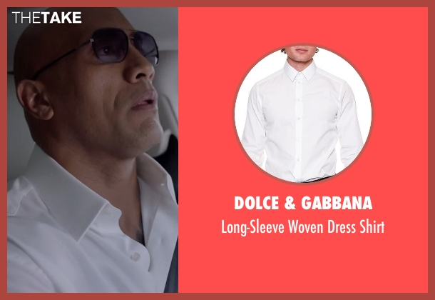 Dolce & Gabbana white shirt from Ballers seen with Spencer Strasmore (Dwayne Johnson)