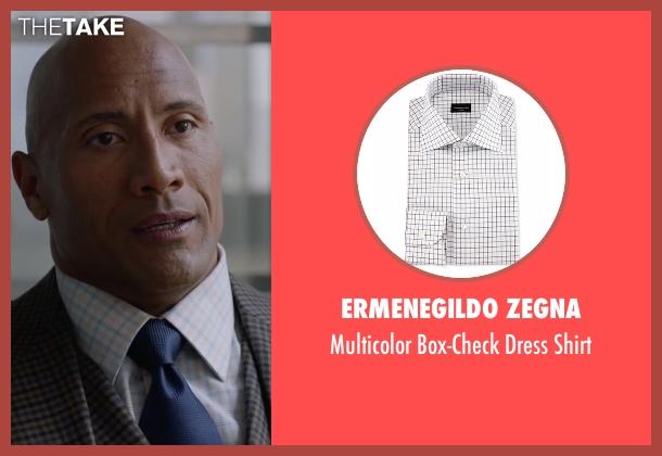 Ermenegildo Zegna white shirt from Ballers seen with Spencer Strasmore (Dwayne Johnson)