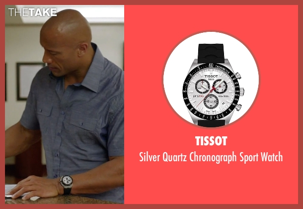 Tissot white watch from Ballers seen with Spencer Strasmore (Dwayne Johnson)