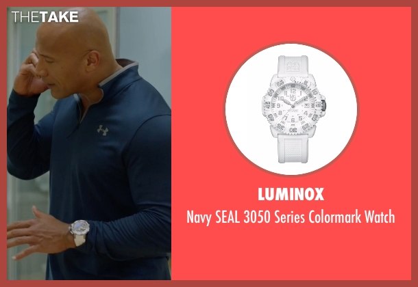 Luminox white watch from Ballers seen with Spencer Strasmore (Dwayne Johnson)