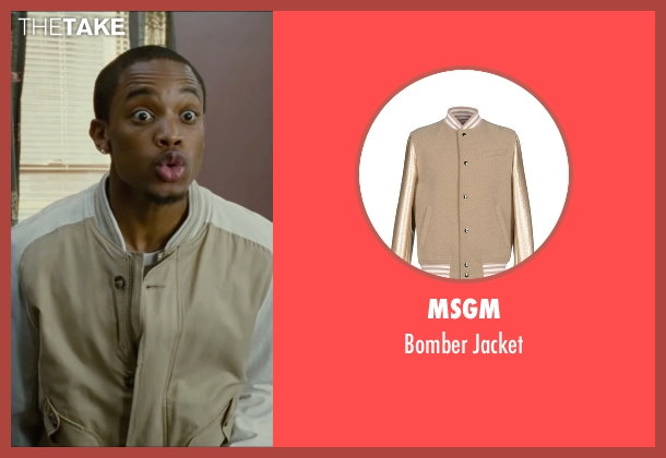 MSGM beige jacket from The Heat seen with Spoken Reasons (Rojas)