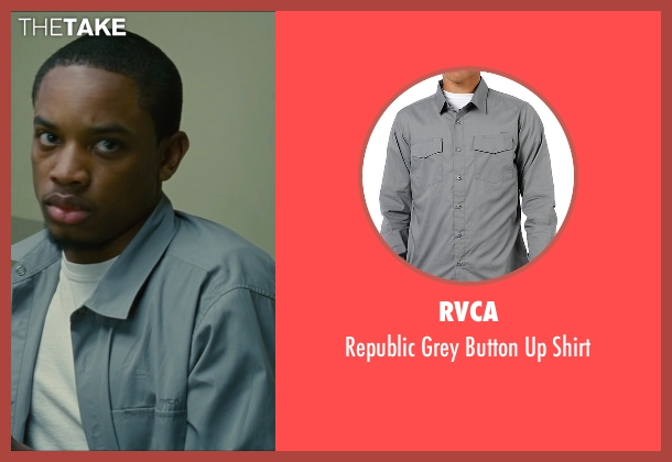 RVCA gray shirt from The Heat seen with Spoken Reasons (Rojas)