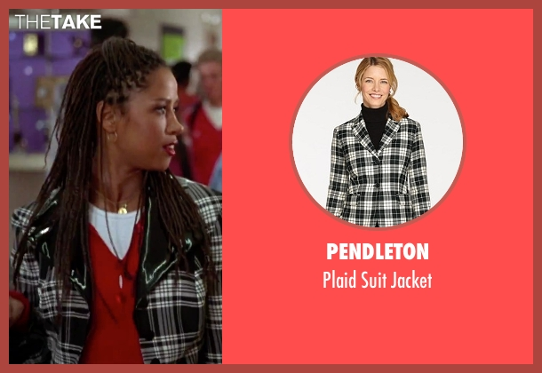 Pendleton black jacket from Clueless seen with Stacey Dash (Dionne)