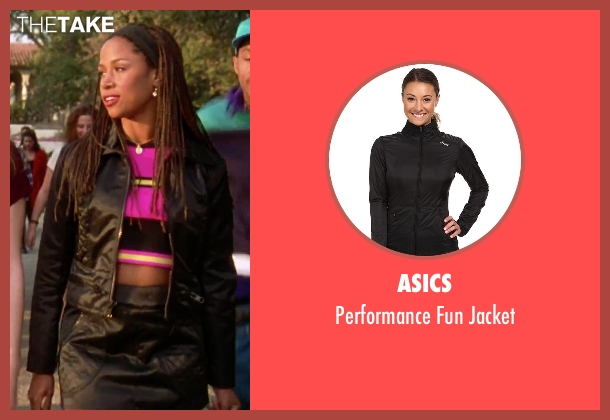 Asics black jacket from Clueless seen with Stacey Dash (Dionne)