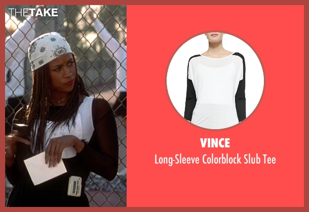 Vince black tee from Clueless seen with Stacey Dash (Dionne)
